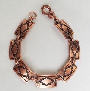 Vintage Southwestern Copper Link Bracelet